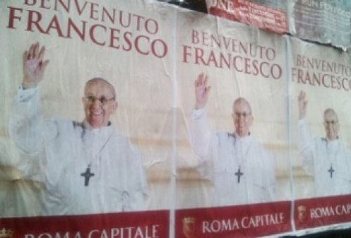 Posters_welcoming_Pope_Francis_are_spreading_across_Rome_Credit_Marta_Jimnez_Ibez_CNA_CNA_Vatican_Catholic_News_3_18_13